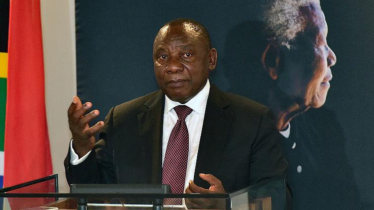Der neue ANC-Parteivorsitzende Cyril Ramaphosa