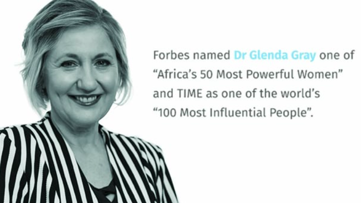 Image and accolades: Dr Glenda Gray, President and CEO of the South African Medical Research Council (SAMRC)