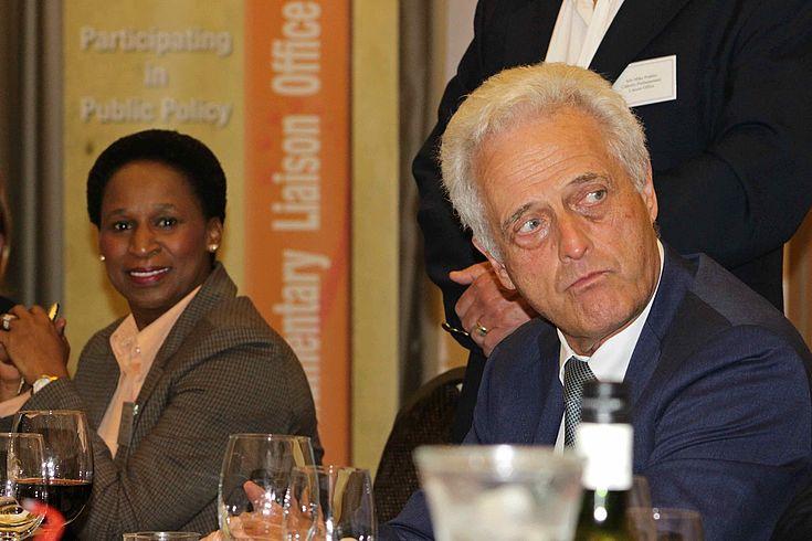 Dr Peter Ramsauer and Ms Thamo Mzobe