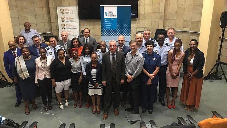Participants in the full-day police training seminar in Pretoria