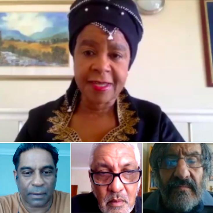 Dr Mamphela Ramphele, Lawson Naidoo, Father Peter-John Pearson, Prof Steven Friedman