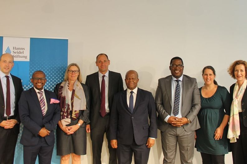 Panelists with the South African Ambassador and HSF team members