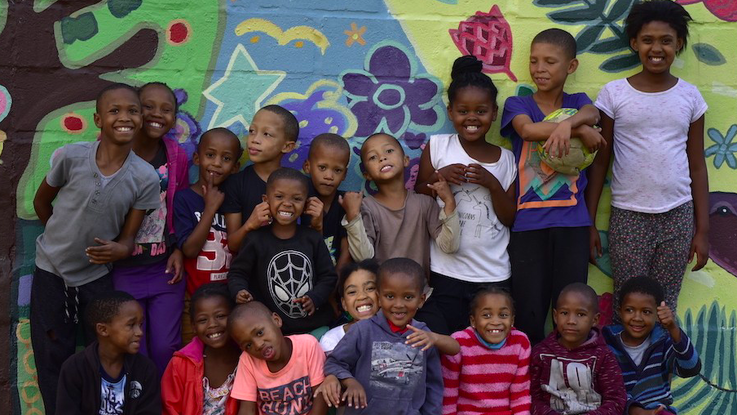 Picture of children:Violence prevention work is crucial in South Africa, to protect children and future generations as well