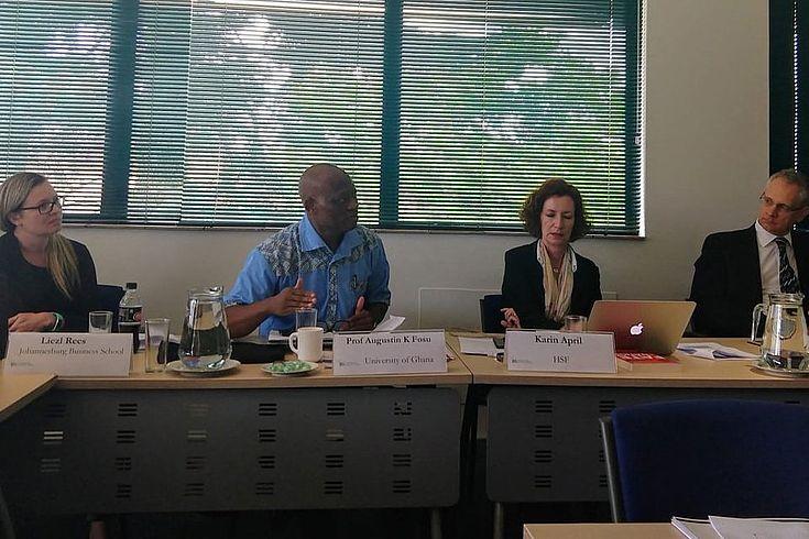 Prof Augustin Fosu presenting his award winning research