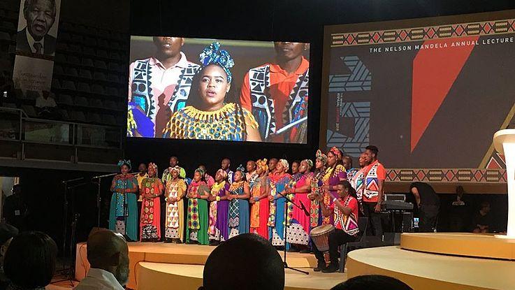 The legendary Soweto Gospel Choir, and Samthing Soweto