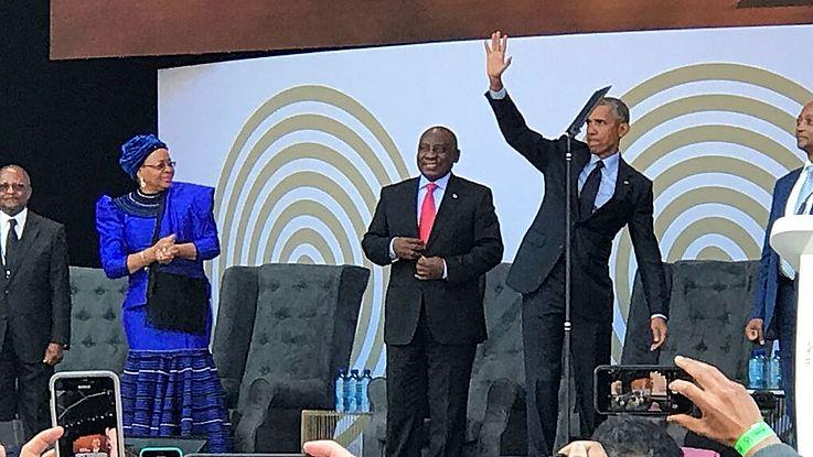 President Cyril Ramaphosa, Prof Njabulo Ndebele and Graca Machel were among the speakers
