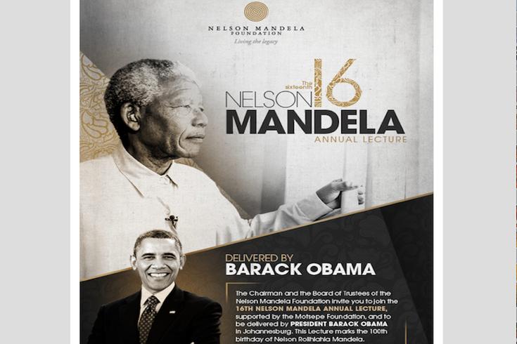 Einladung (Ausschnitt), Nelson Mandela Annual Lecture
