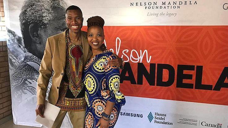 John Jabulani Mtuse, from our Civics Academy youth group, and Tlaleng Mokoena, HSF