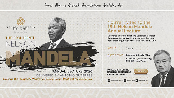 Special Invitation for this years's Nelson Mandela Annual Lecture