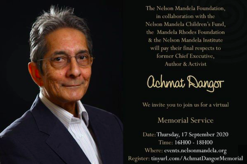A very special Memorial Service - Farewell to a truly great South African