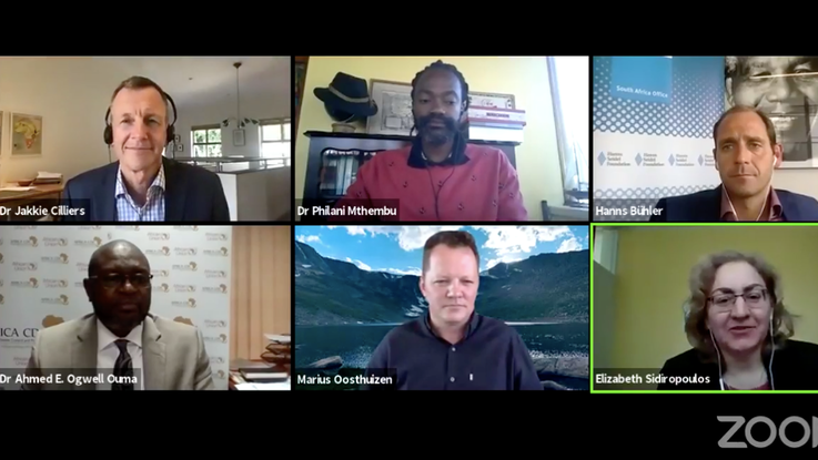 Screen shot: A crucial conversation with insightful contributions from diverse experts