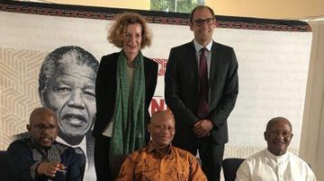 HSF representatives with Chief Justice Mogoeng Mogoeng, Sello Hatang and Prof. Njabulo Ndebele