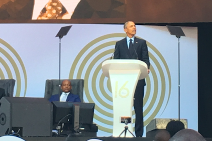 16th Nelson Mandela Annual Lecture, given by Barack Obama in Johannesburg