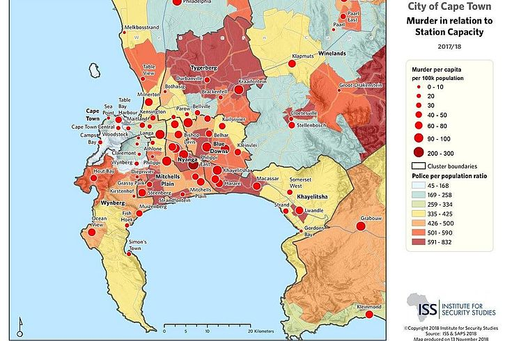 Murder statistics in relation to police capacity per area is a significant focus question in South Africa