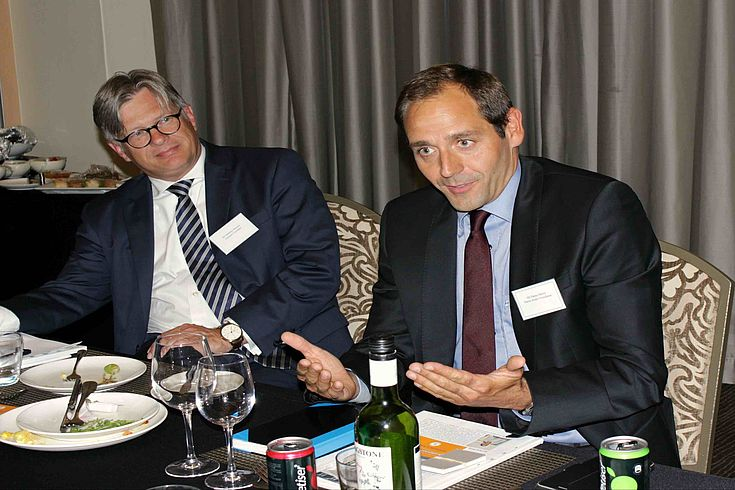 Matthias Hansen, German Consul General in Cape Town, with Hanns Bühler